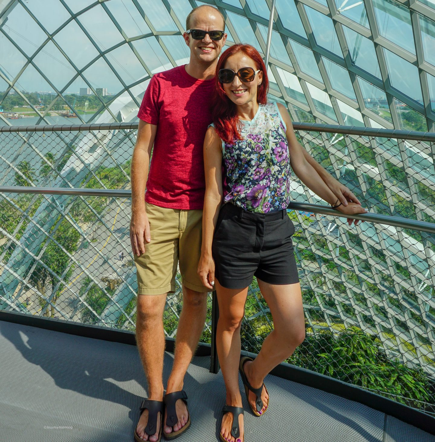 Dan and Fani posing for a photo together in the Cloud Forest Singapore | Buy My Morning