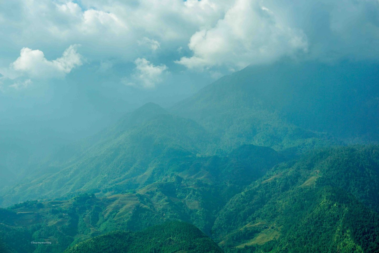 View of the mountains in the Sapa region of Northern Vietnam | Buy My Morning