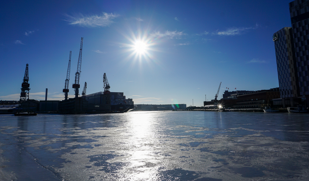 A Quick Stop in Frozen Helsinki Finland - Buy My Morning - Sea View Helsinki Finland