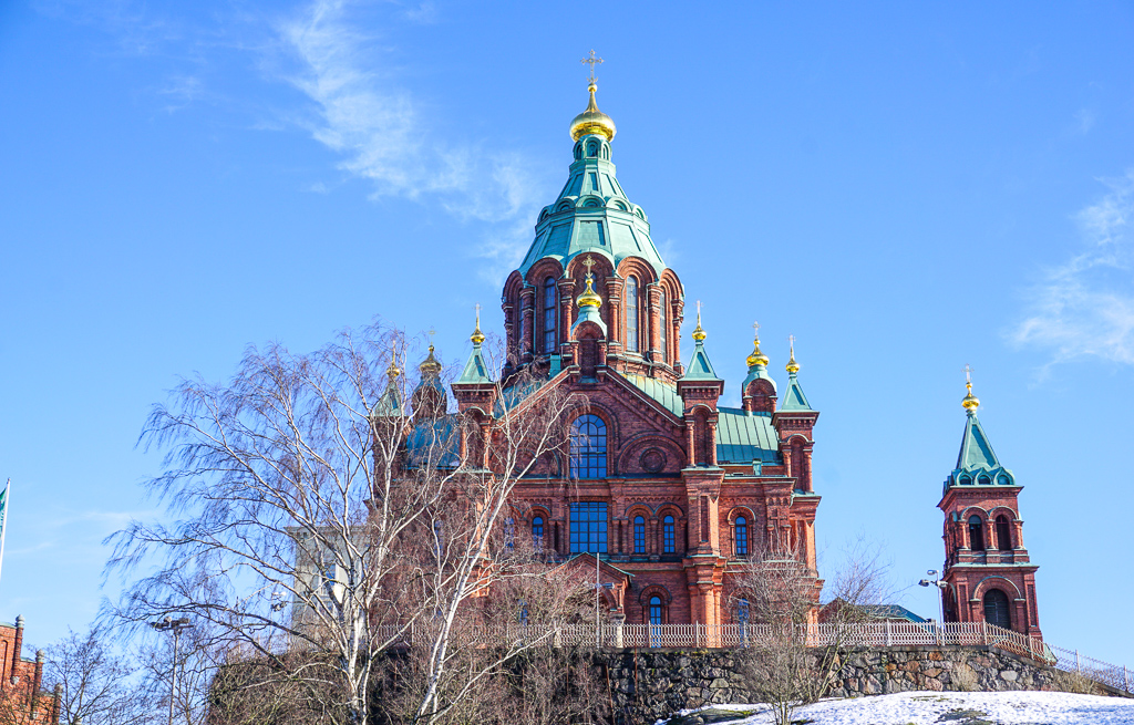 A Quick Stop in Frozen Helsinki Finland - Buy My Morning - Uspenski Cathedral the best landmark in Helsinki