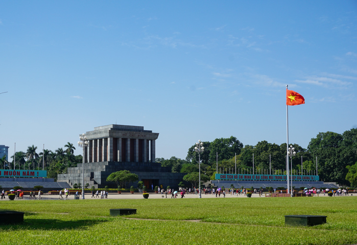 Beautiful surroundings in the captial city Hanoi, looking out at Ho Chi Minh's final resting place | Buy My Morning