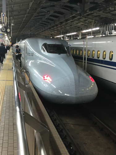 Buy My Morning | Standing on the platform taking a photo of a famous bullet train