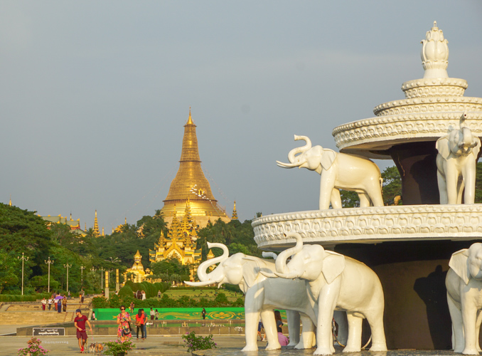 A view of Shwedagon Pagoda from the Peoples Park Yangon Myanmar (Burma) | Buy My Morning
