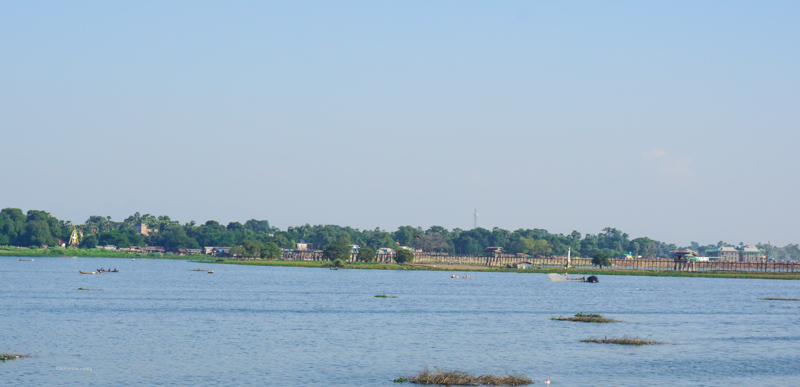 Long shot of the U Bein Bridge from a distance | Buy My Morning