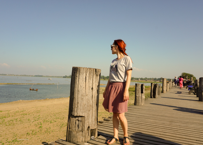 Fani standing on the U Bein Bridge with us enjoying some great weather | Buy My Morning