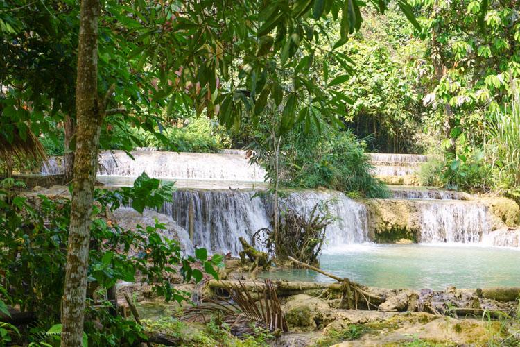Truly beautiful Kung Si Waterfalls just outside Luang Prabang | Buy My Morning
