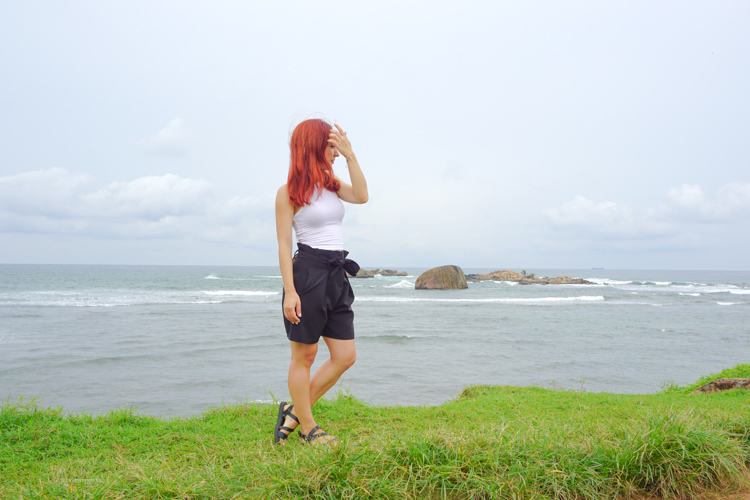 Fani at Galle Fort Sri Lanka with the Indian Ocean in the distance | Buy My Morning | Sri Lanka 8 day adventure itinerary