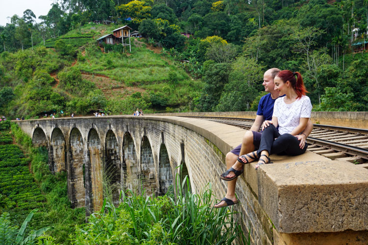 Nine arch bridge Elle Sri Lanka Dan & Fani sharing a moment | Buy My Morning | Sri Lanka 8 day adventure itinerary